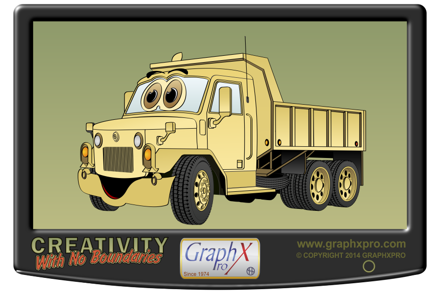 Dump clipart sand truck. Military cartoon graphxpro s