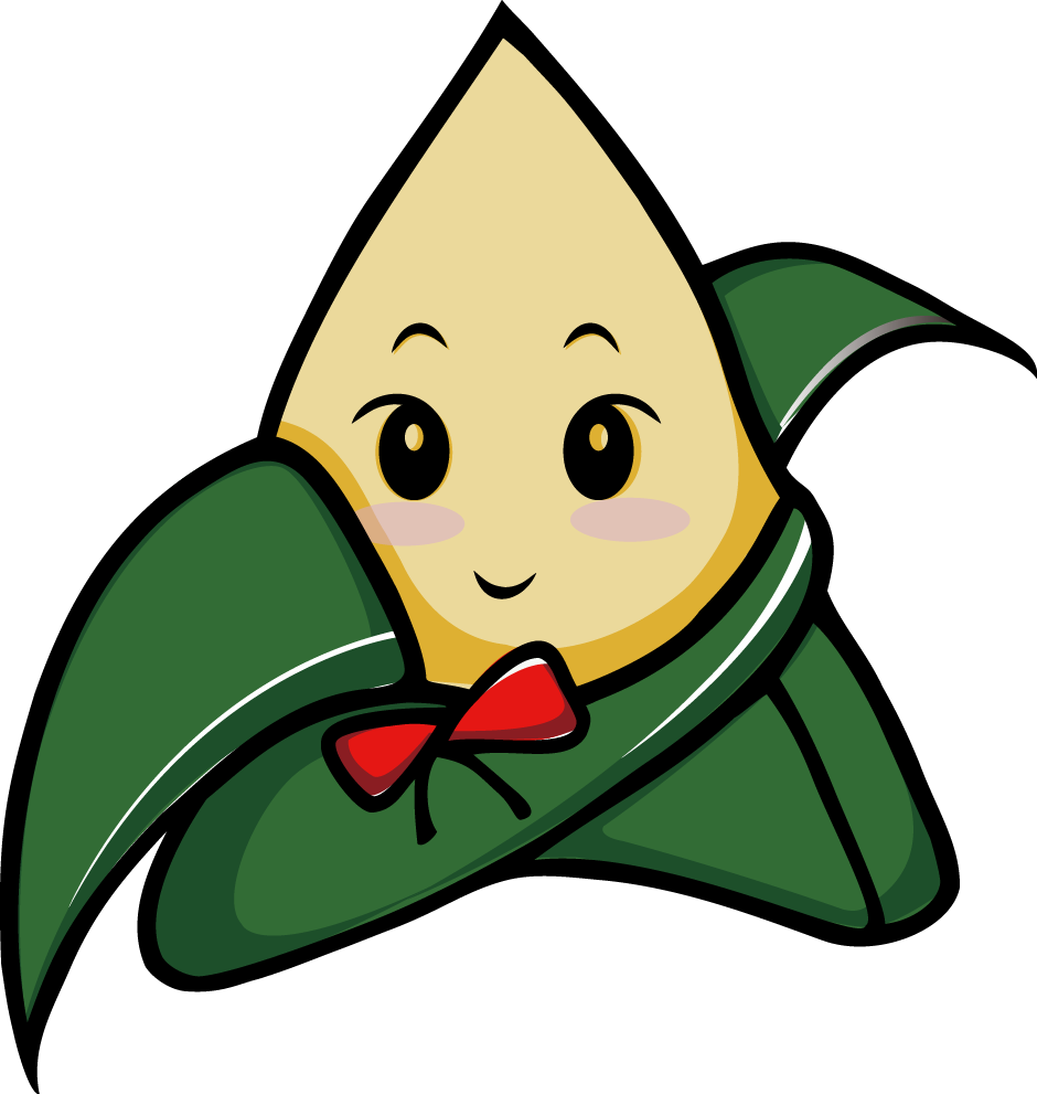 Dumpling vector cartoon. Zongzi u aefu dragon