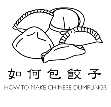 Dumplings drawing line. How to make chinese
