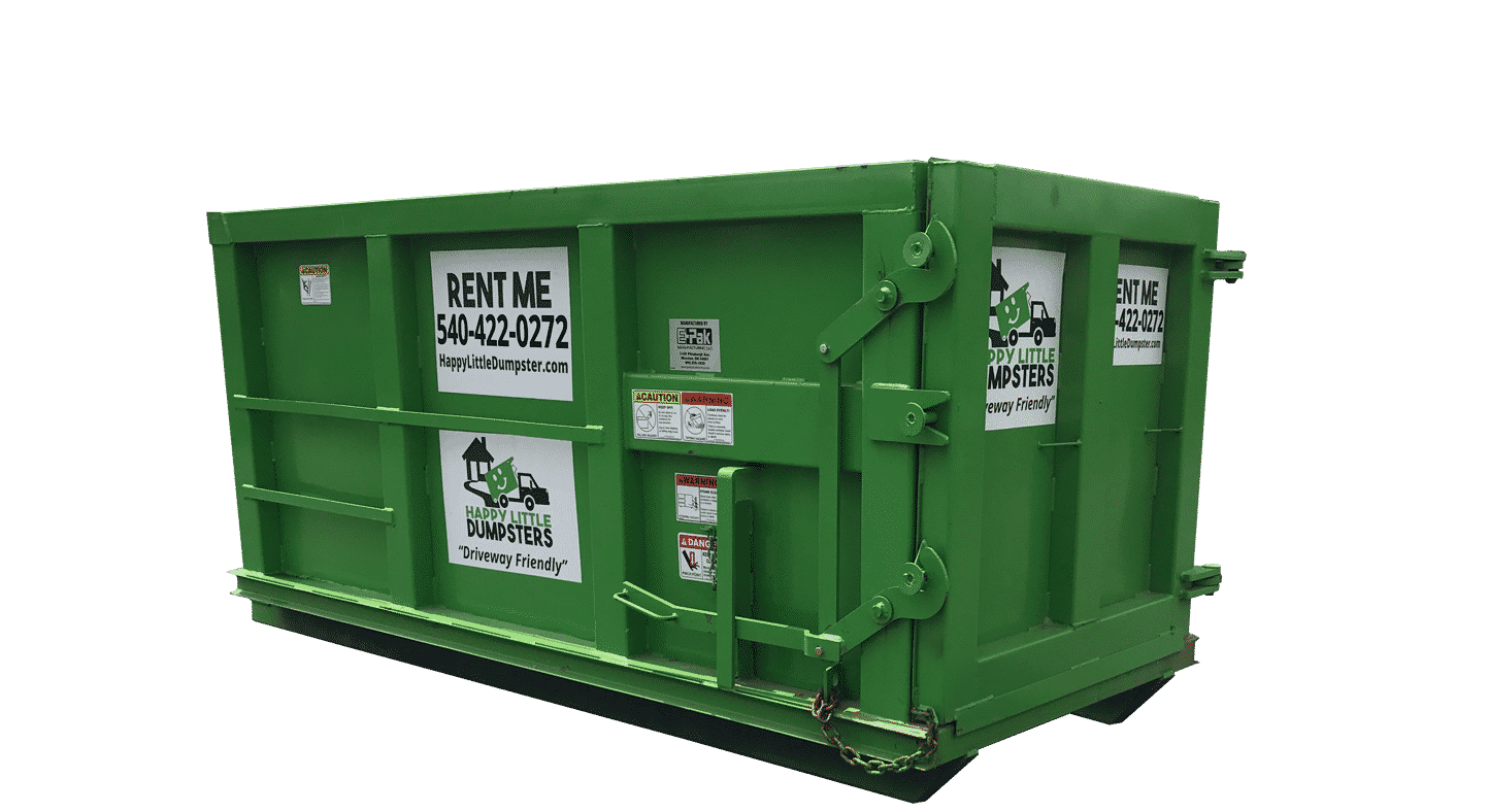 Dumpster transparent 6 yard. Rental prices from happy