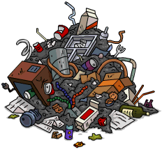 Dumpster transparent cartoon. Garbage pile the simpsons
