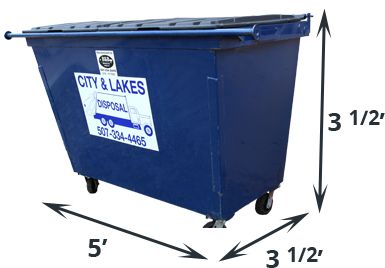 Dumpster transparent construction. Roll off solutions city