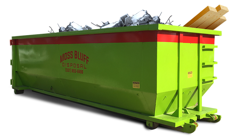 Dumpster transparent construction. Roll off container rental