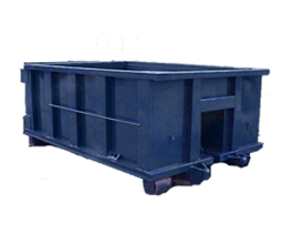 Dumpster transparent rolloff. Sizes rental in dallas
