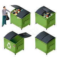 Dumpsters. Garbage stock vectors clipart