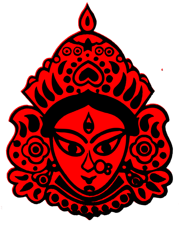 Durga drawing god. Puja kali devi free