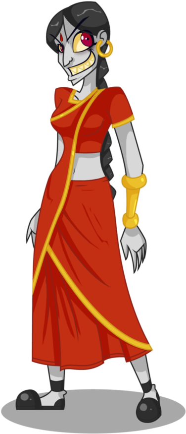 Durga drawing. Download animated clip transparent