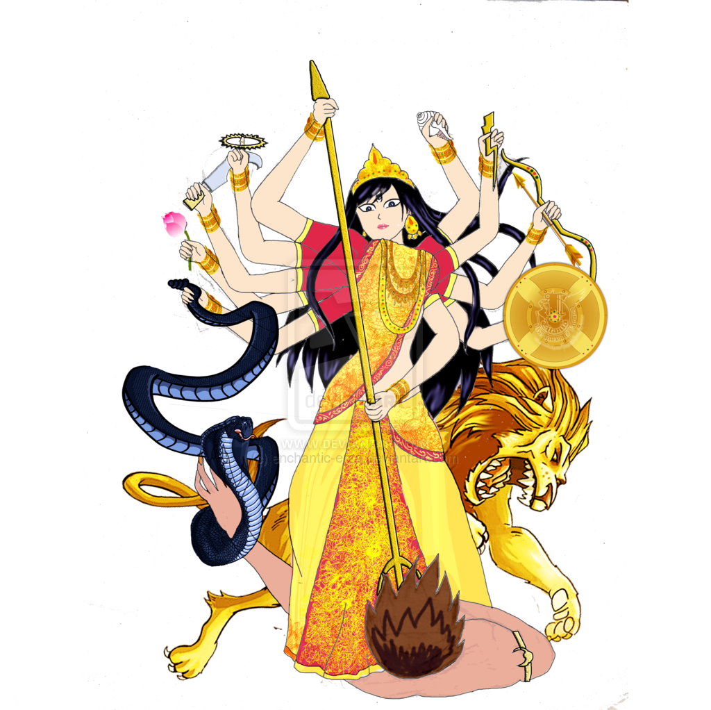 Collection of free asura. Durga drawing devi png transparent download