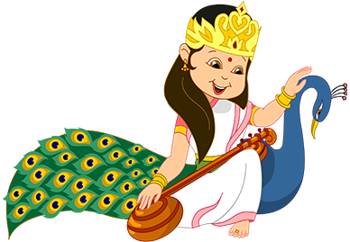 Durga drawing kids. Festivals and holidays th