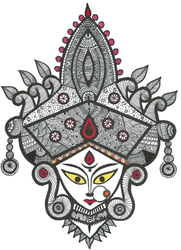 Durga drawing maa. T shirt by radhika