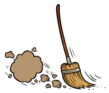 Cleaning clipart broom. Free clip art bay