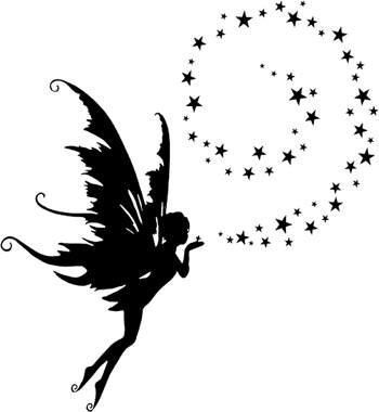 Dust clipart fairy. With tattoos silhouette