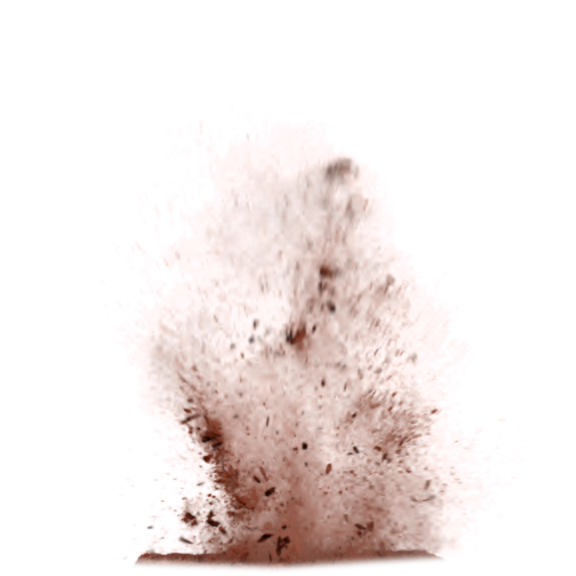 Dust effect png. Pixel brown simple explosion