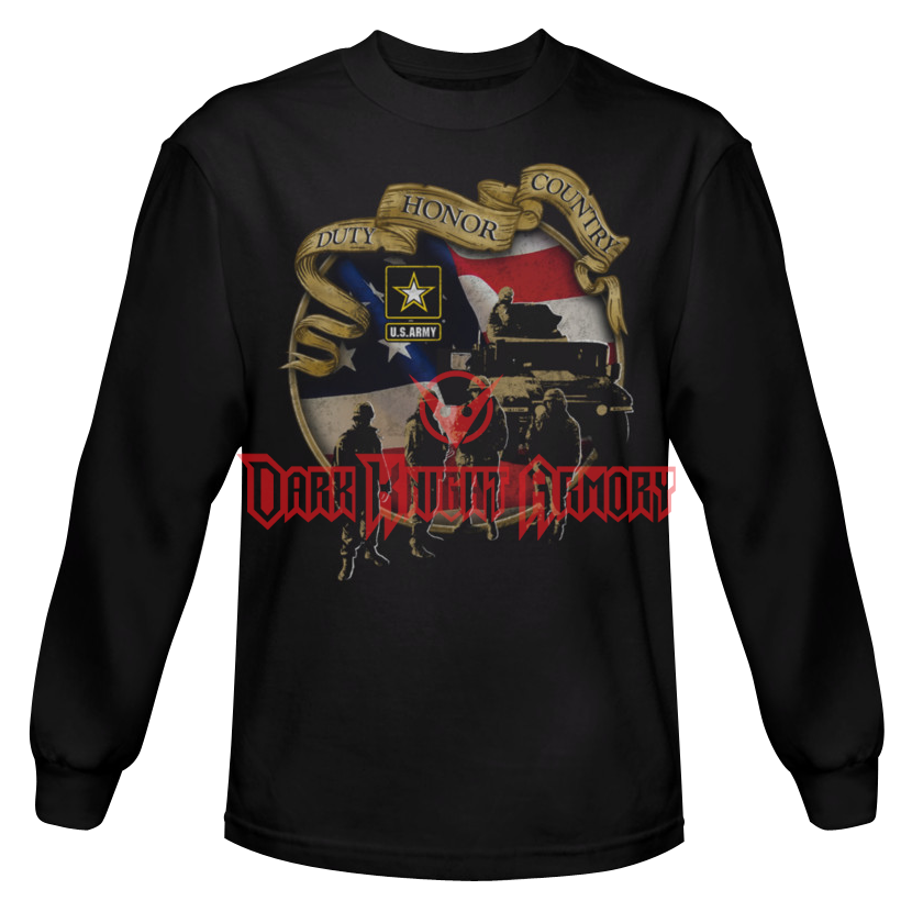 Duty honor country png. Army long sleeve shirt