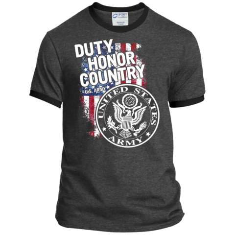Duty honor country png. Army american pride tee