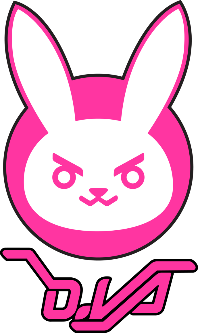 Dva bunny logo by. D.va vector image download