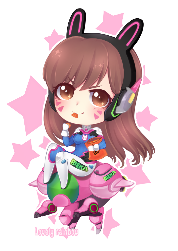 Dva overwatch png. Chibi by cure rainbow