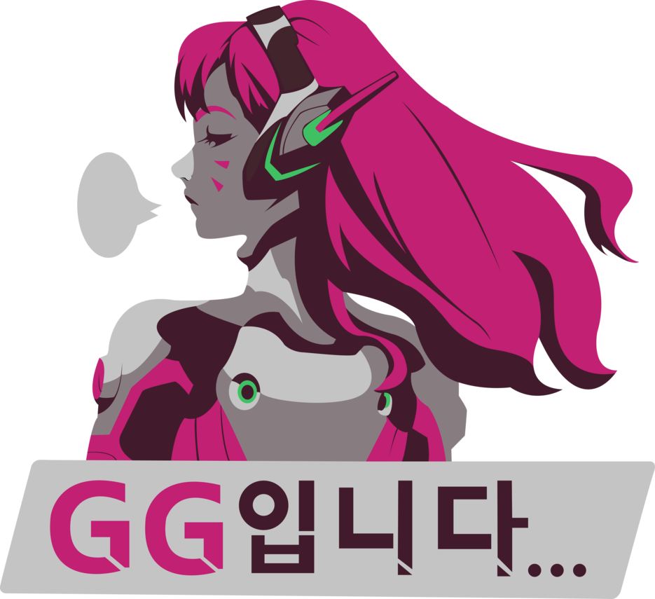 Overwatch spray png. D va by bloodyhell