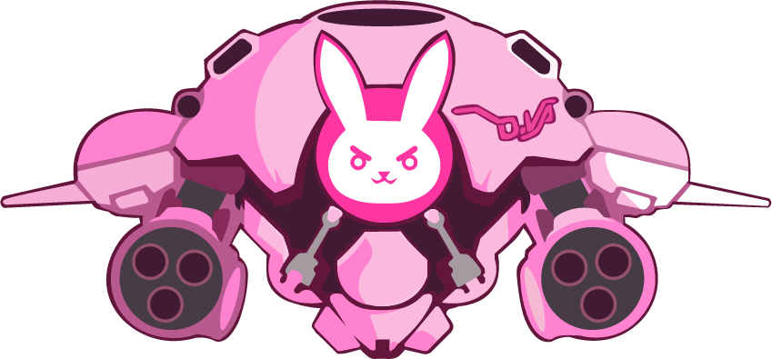 D.va vector mercy. Overwatch spray vectors bunny