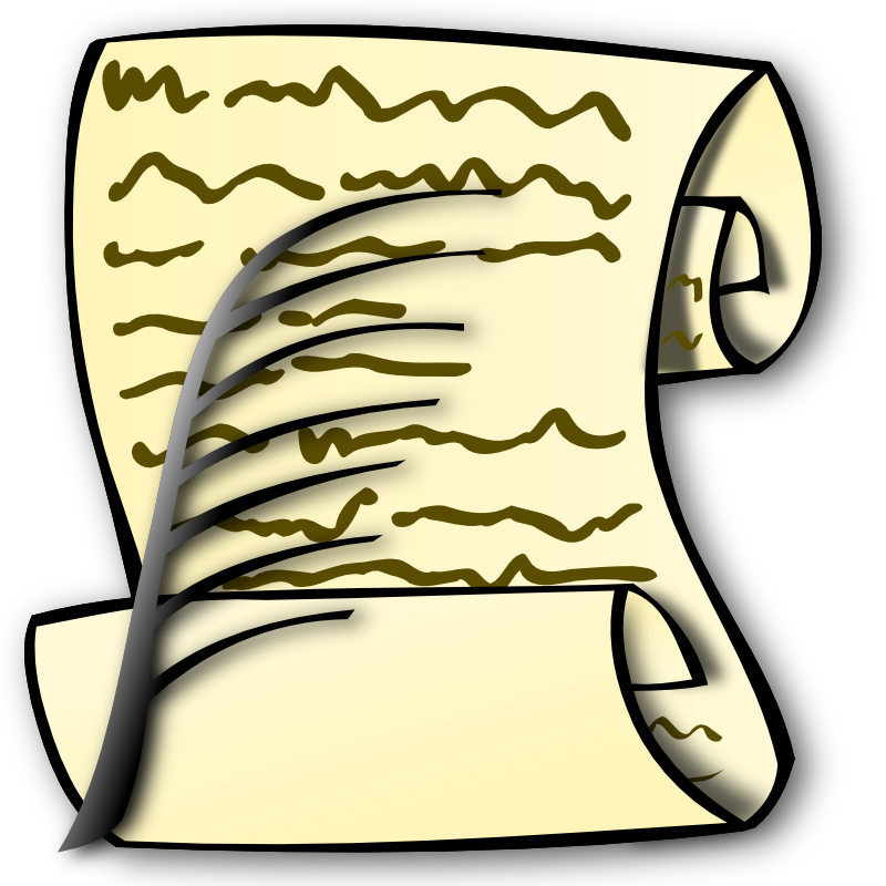 Dvergr. Scroll clipart declaration rights