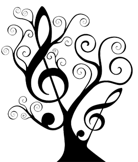 Music and medical assistance. Dying drawing graphic freeuse