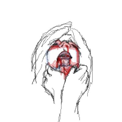 Dying drawing. Pixel art x by