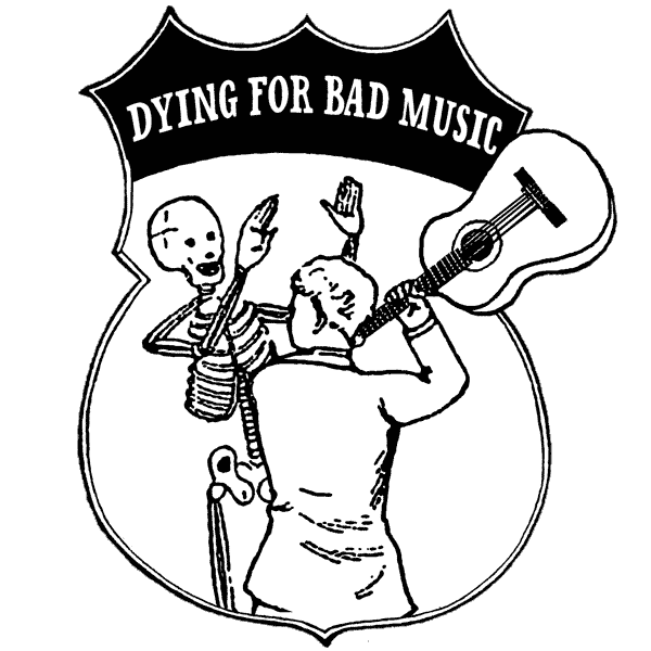 Dying drawing. For bad music label