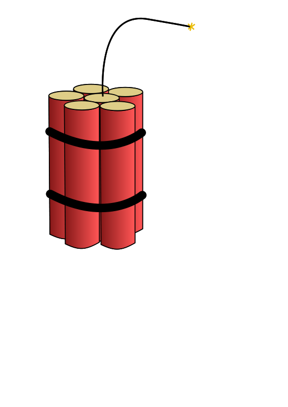 Dynamite vector stick. Collection of free dynamiting