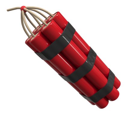Dynamite transparent vector. Weapons png images with