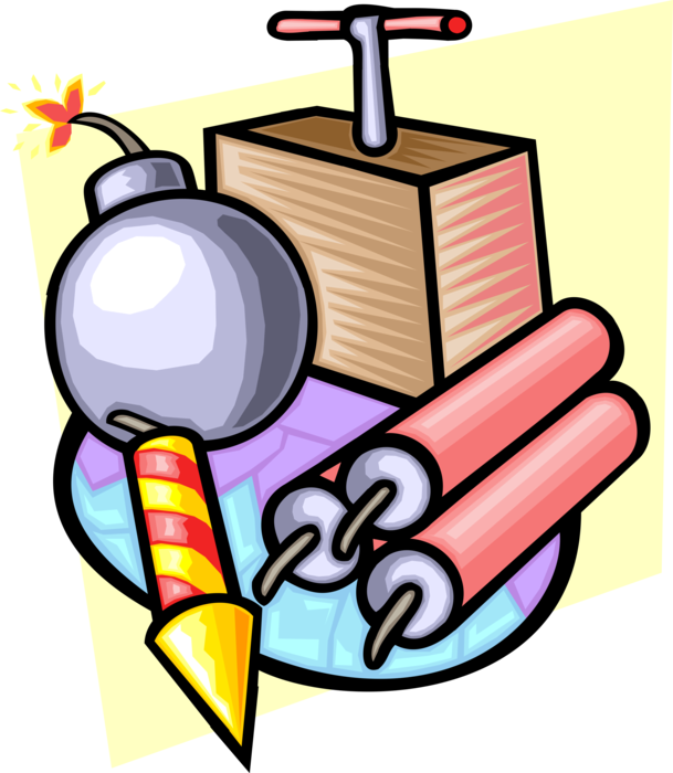 Tnt bomb explosive material. Dynamite vector freeuse download