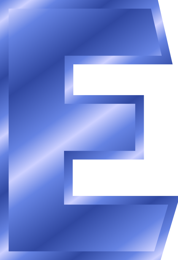 E clipart blue letter. Png images free download