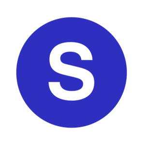 E clipart blue letter. S in a cercle