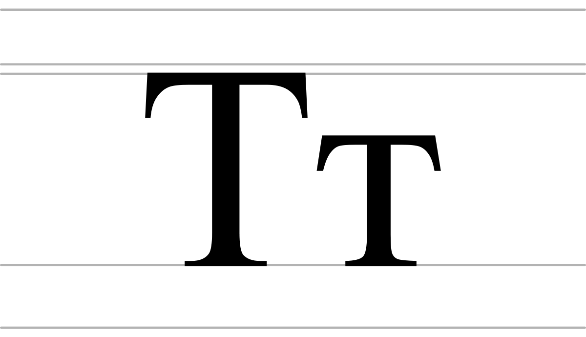 History vector old letter. Te cyrillic wikipedia
