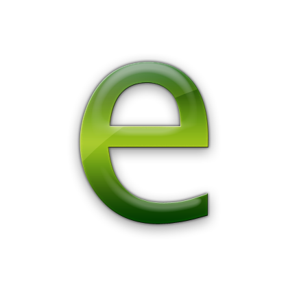 E transparent green. Letter png images free