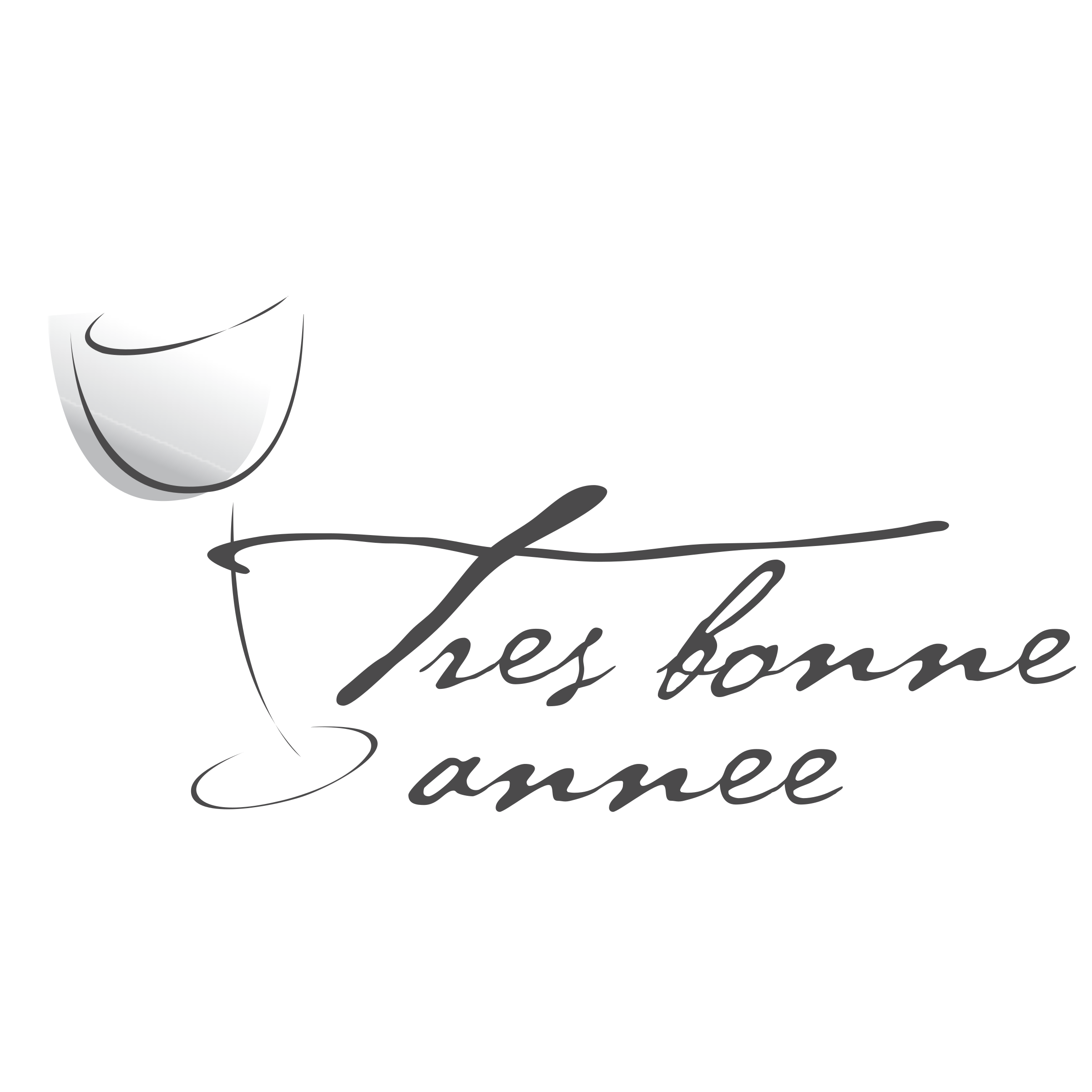 E transparent calligraphy. Tre s bonne anne