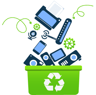 E transparent garbage. Home computer technology resource