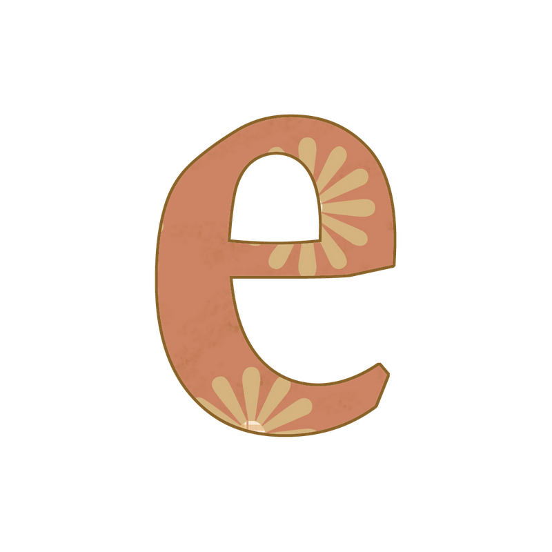 E transparent small. Letter png image with