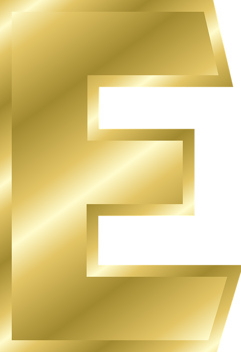 E transparent yellow. Letter hd png images