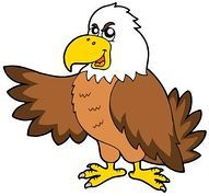 Eagle clipart baby eagle. Vector cartoon waving stock