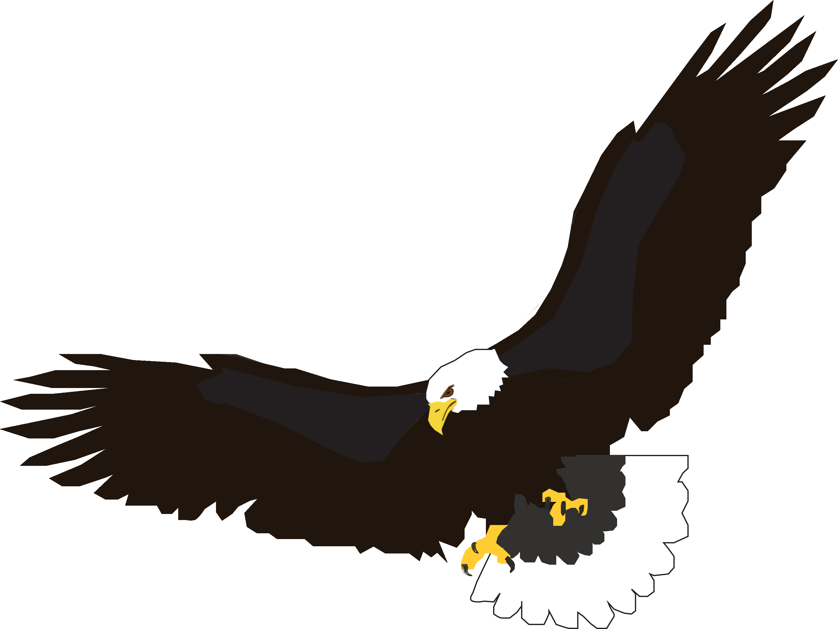 American clipart flying. Free eagle man cliparts