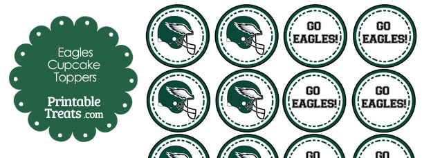 Eagle clipart philly. Philadelphia eagles cupcake toppers