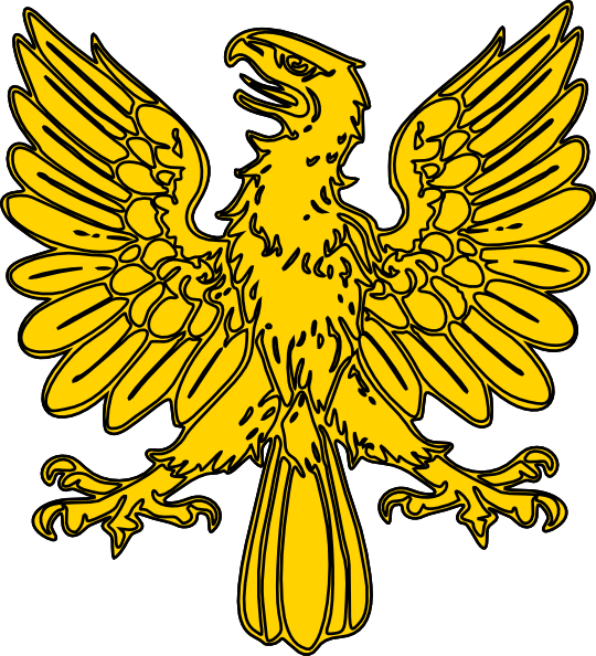 Heraldry vector. Golden eagle clip art