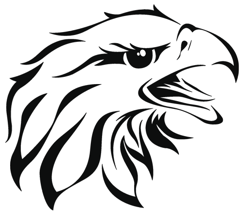 Drawing eagles stencil