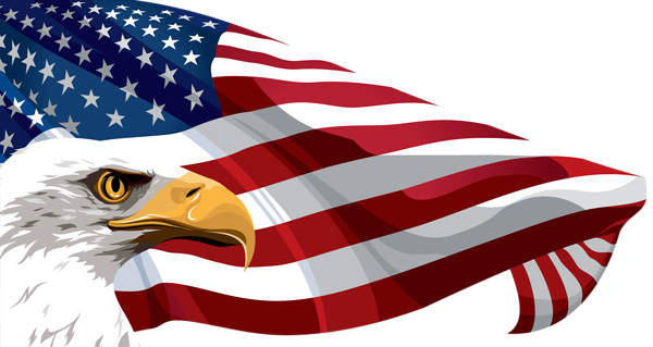 American flag on pole png. And eagle transparent clip