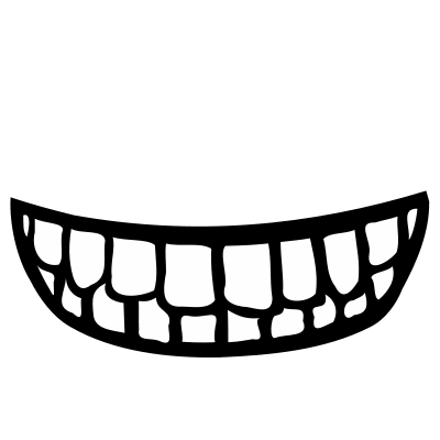Ear clipart mouth. Black and white panda
