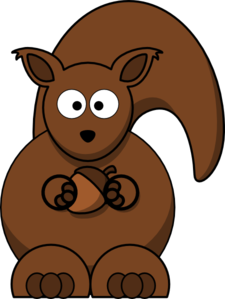 Ear clipart squirrel. With nut clip art
