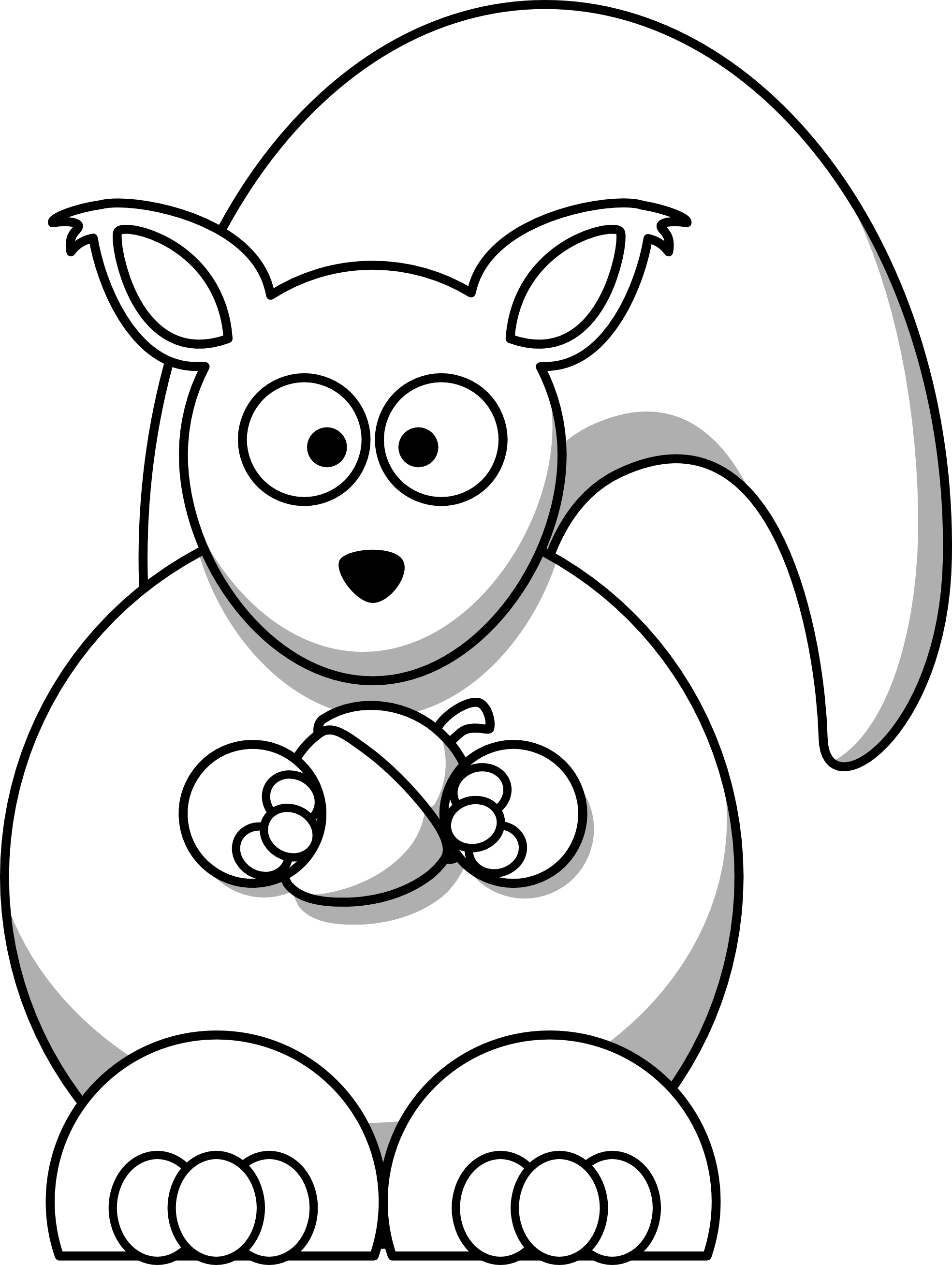 Ear clipart squirrel. Clip art black and