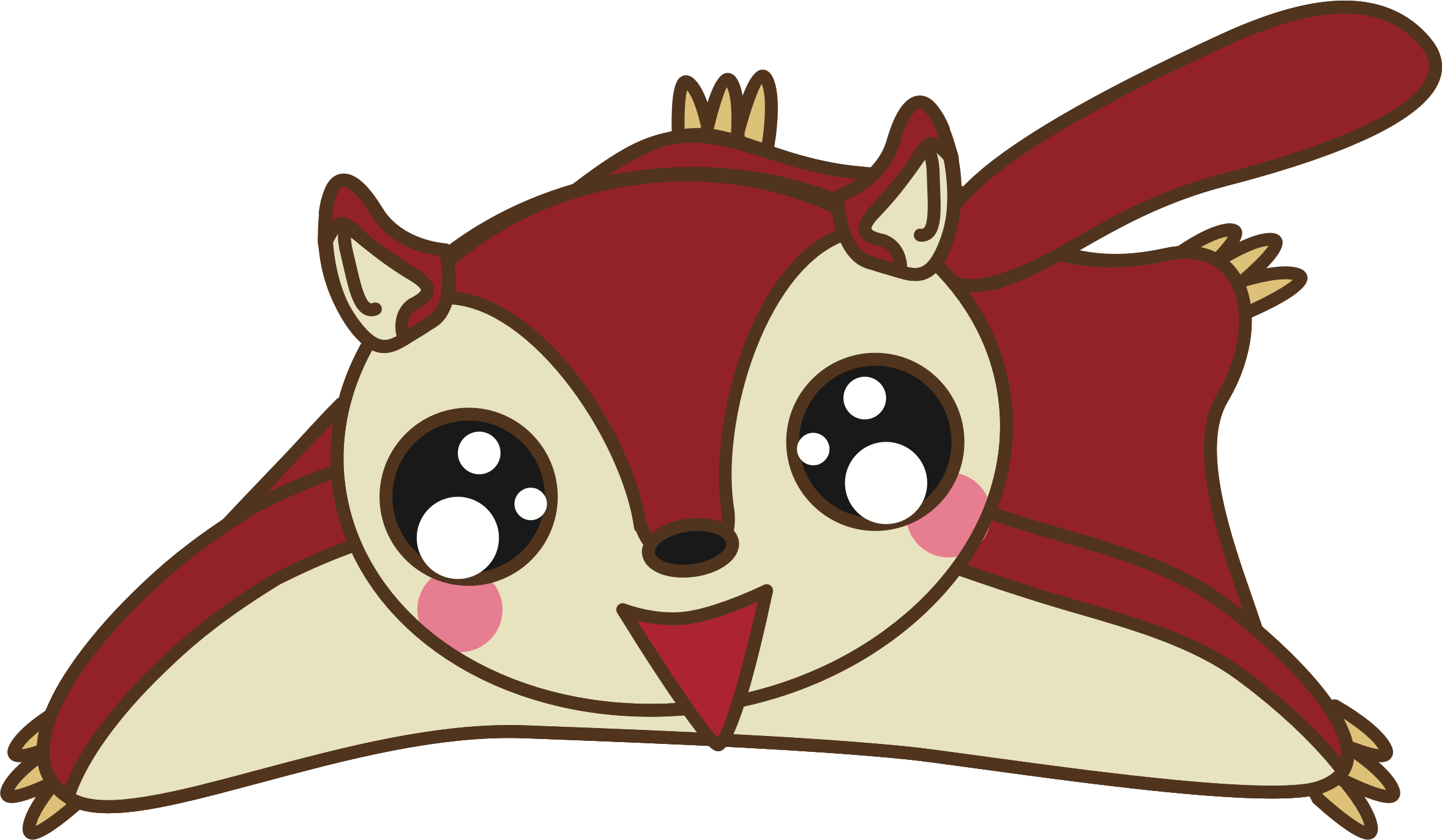 Ear clipart squirrel. Flying big image png
