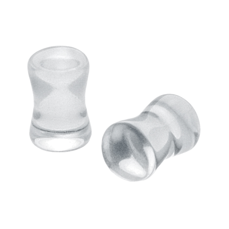 Ear gauges png. Freshtrends clear double flare
