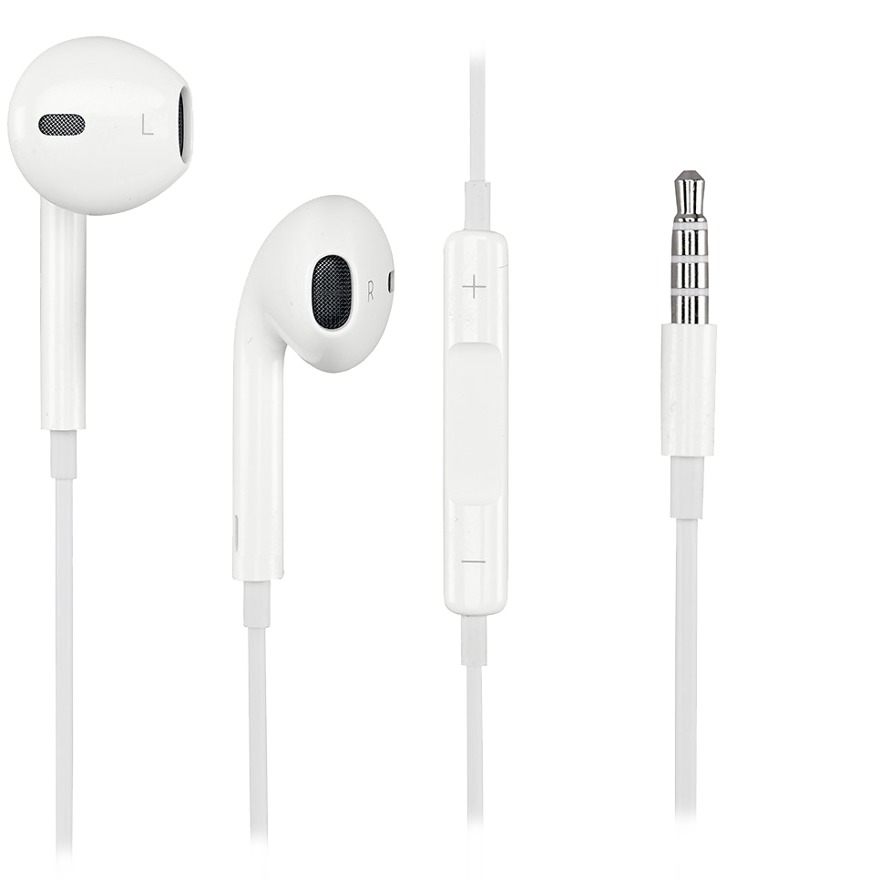 Ear pods png. Apple earpods with mic